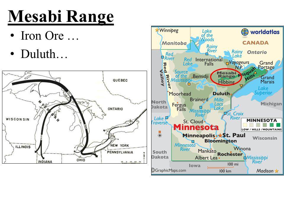 Mesabi Range Iron Ore … Duluth…