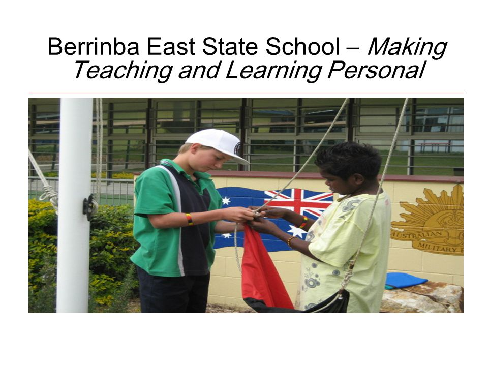Berrinba East State School – Making Teaching and Learning Personal