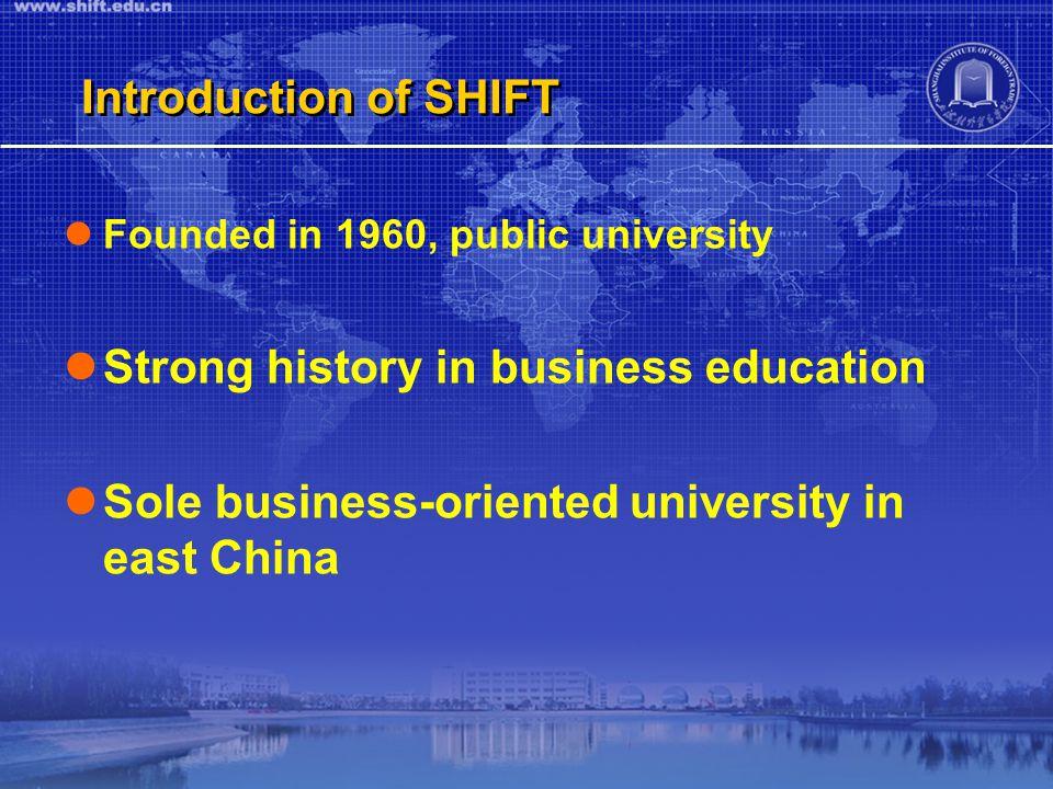 Learn Business, Choose SHIFT!