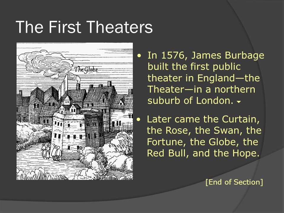 Varying the Venue In 1608, Shakespeare's company acquired a private theater called the Blackfriars.