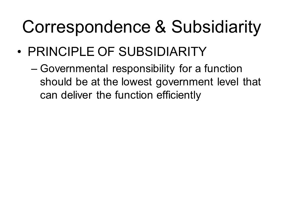 Coordination and Assistance: Grants REVENUE SHARING –Advantages Strengthened local spending power Reduced intergovernmental fiscal disparity Improved capacity to deliver services –Disadvantages Not effective for disadvantaged groups because they all live within the same jurisdiction