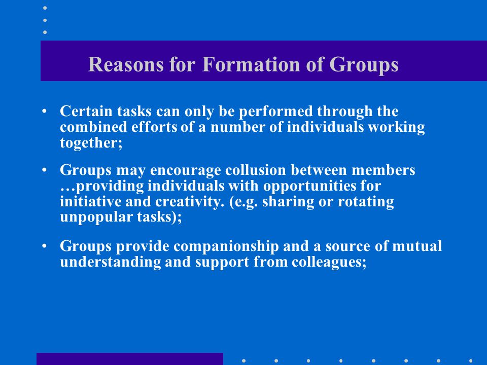 Functions/Roles of Group Members GROUP MAINTENANCE roles (cont.): Following: going along with the group; being a good listener; showing that words are heard.