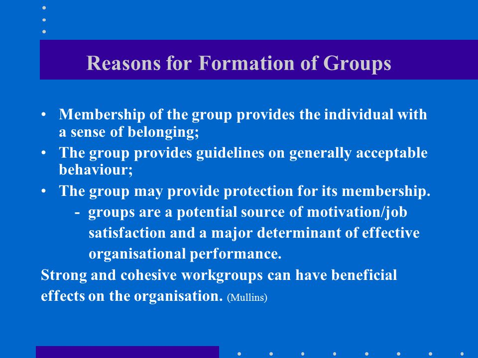 How group formation is related to job content and process and to task and maintenance roles/functions