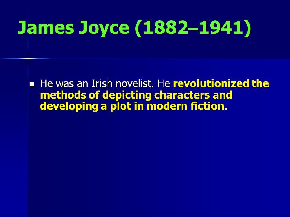 He was an Irish novelist.