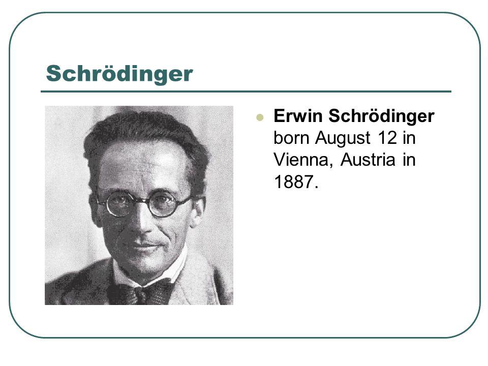 Schrödinger – His Experiment