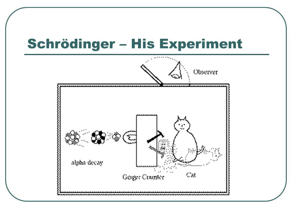 Schrödinger Major points 1.Electrons do not follow fixed paths 2.