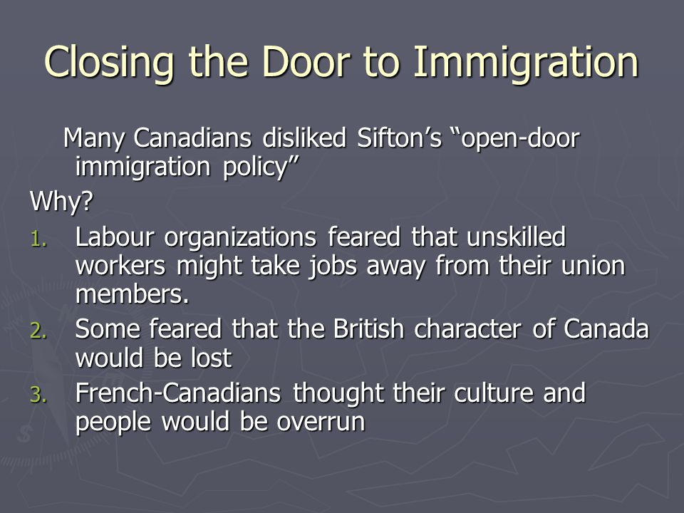 B.C.& Immigration Immigration was a very thorny issue in British Columbia.