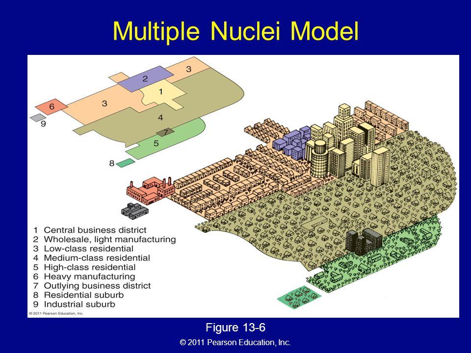 © 2011 Pearson Education, Inc. Multiple Nuclei Model Figure 13-6
