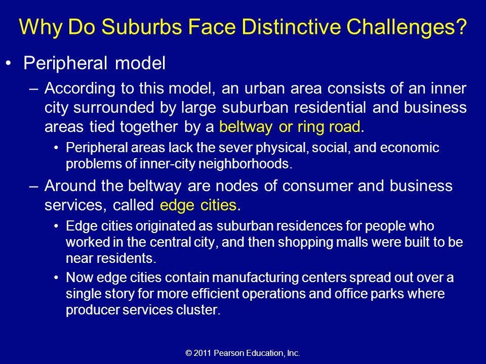 © 2011 Pearson Education, Inc.Why Do Suburbs Face Distinctive Challenges.