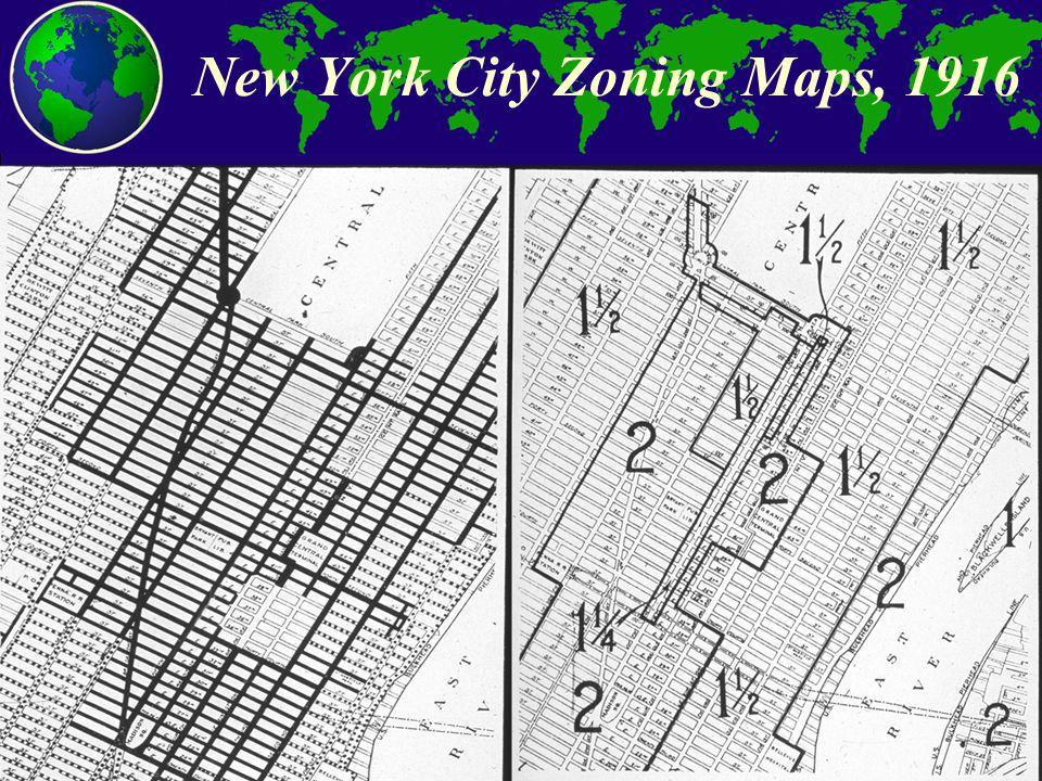 City and Regional Planning Program, Georgia Tech New York City Zoning Maps, 1916