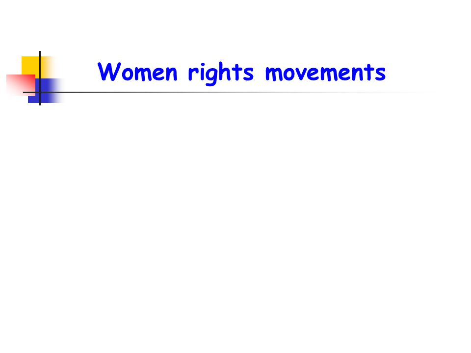 Women rights movements