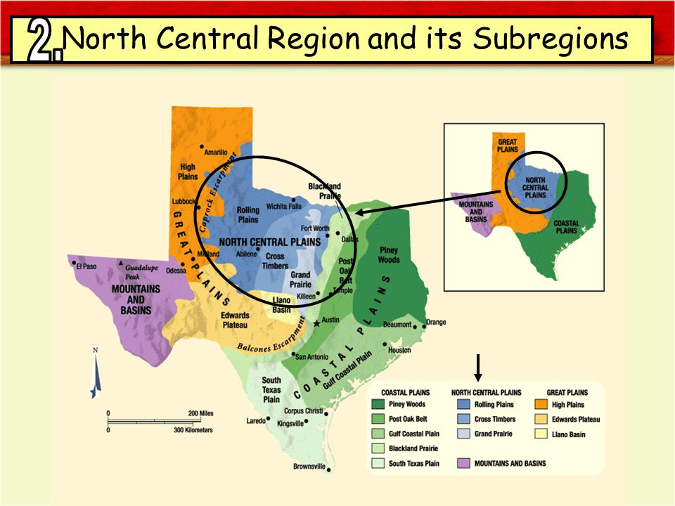 SUBREGIONS OF TEXAS North Central Region and its Subregions