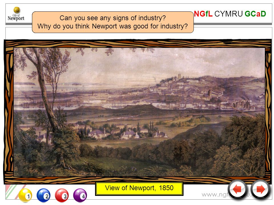 NGfL CYMRU GCaD www.ngfl-cymru.org.uk View of Newport, 1850 Do you think this picture is absolutely accurate.