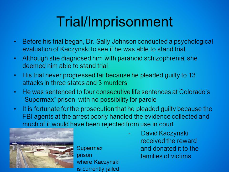Trial/Imprisonment Before his trial began, Dr.
