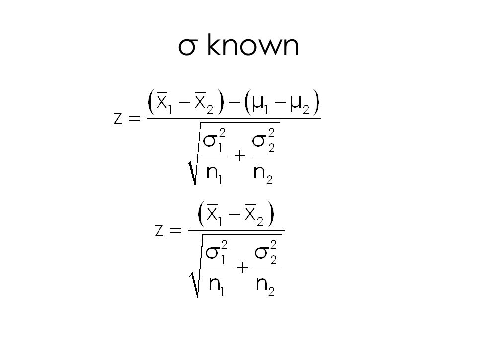 σ known