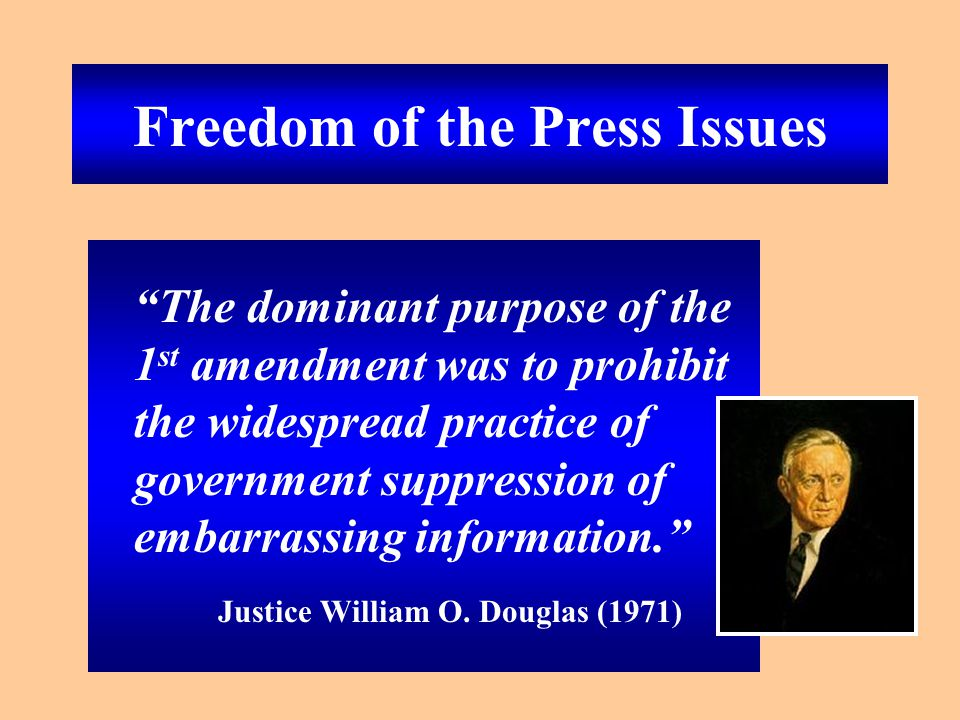 Freedom from government censorship versus National Security When should the government be allowed to use National Security to limit Freedom of the Press