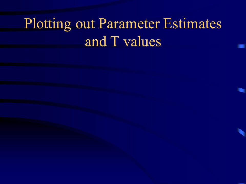Plotting out Parameter Estimates and T values