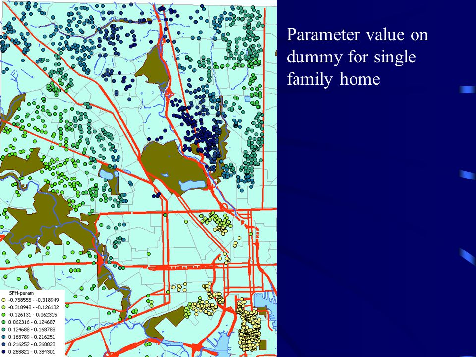 Parameter value on dummy for single family home