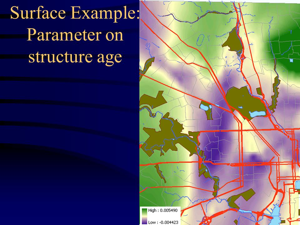 Surface Example: Parameter on structure age