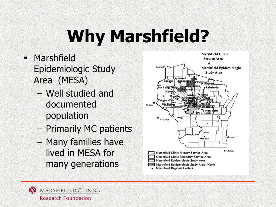 Why Marshfield.