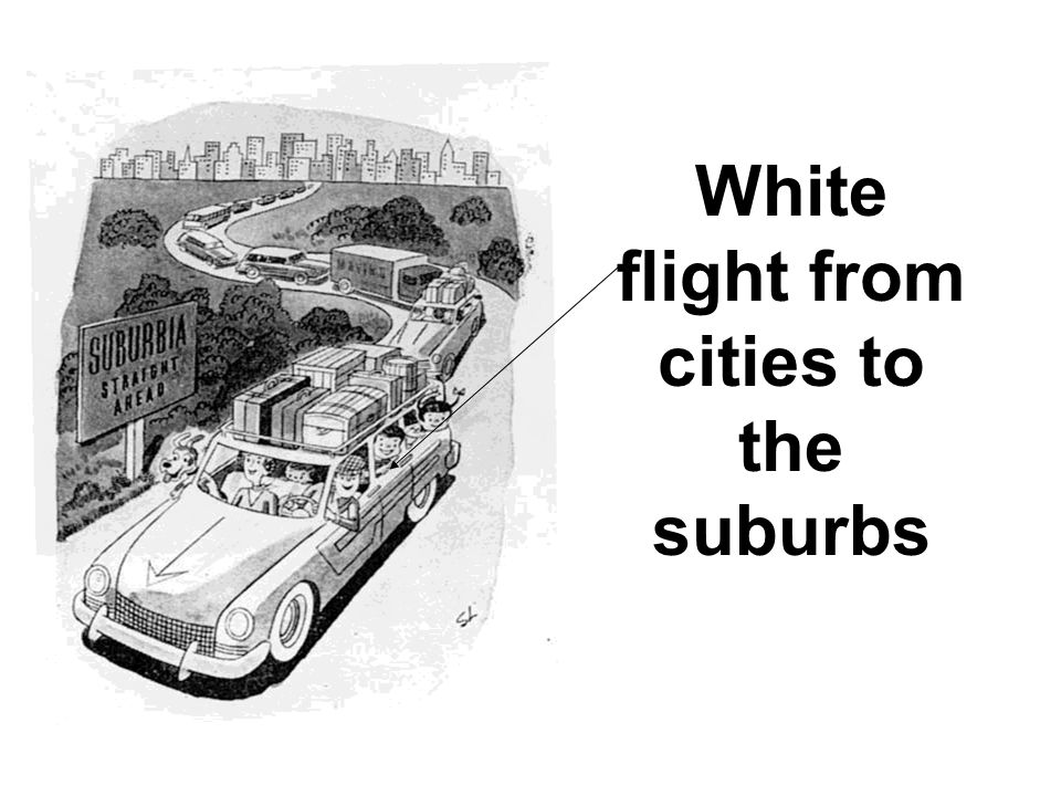 White flight from cities to the suburbs