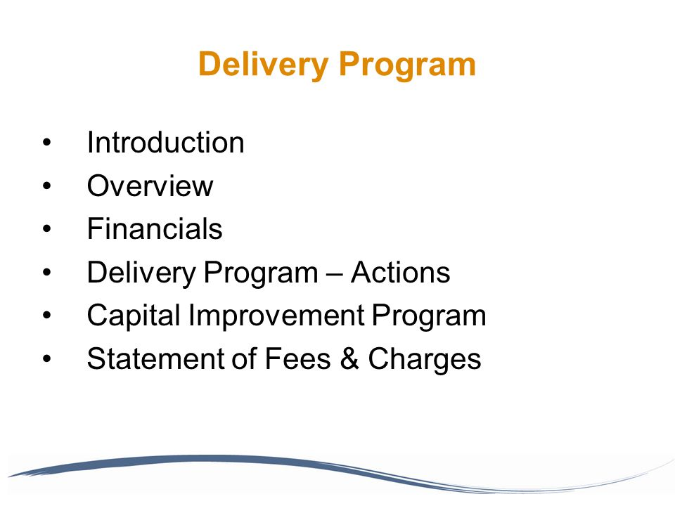 2013/14 Budget – Major Works Program Capital