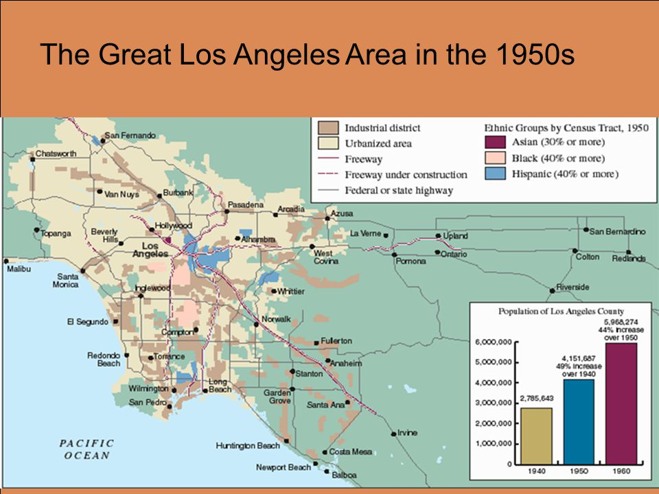 The Great Los Angeles Area in the 1950s