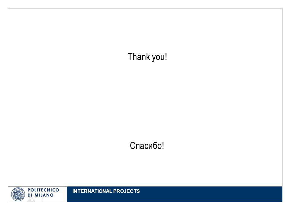 INTERNATIONAL PROJECTS Thank you! Спасибо!