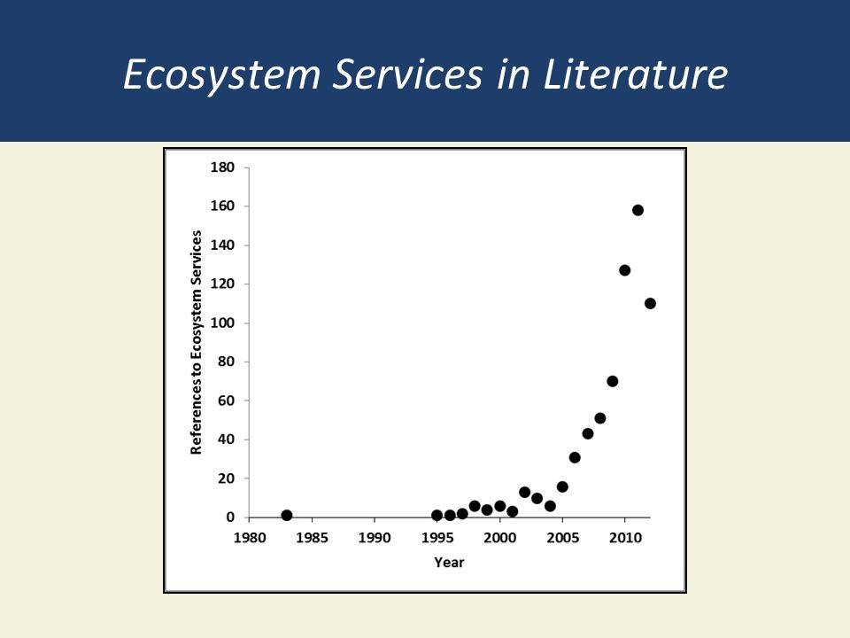 Ecosystem Services in Literature