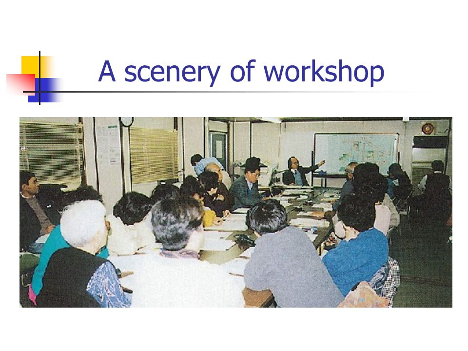 A scenery of workshop