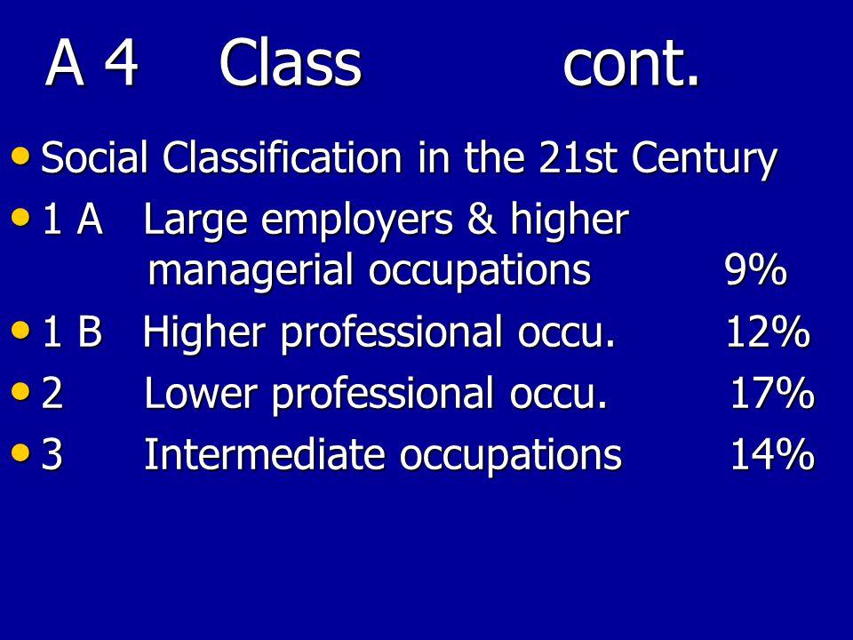 A 4 Class cont.