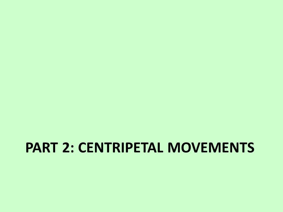 PART 2: CENTRIPETAL MOVEMENTS