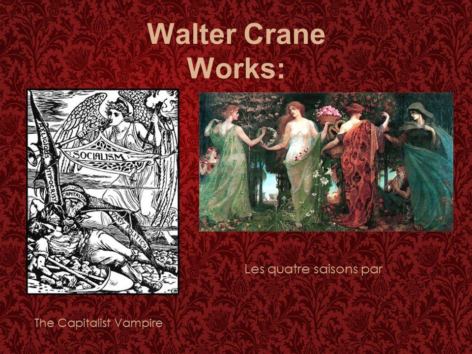 Walter Crane Works: Les quatre saisons par The Capitalist Vampire