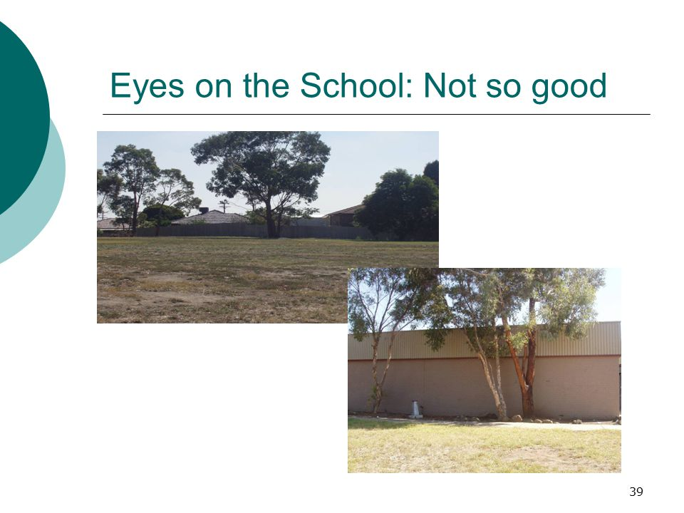 39 Eyes on the School: Not so good