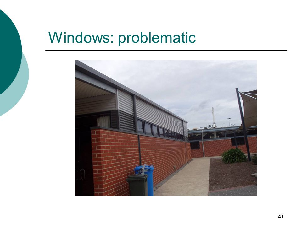 41 Windows: problematic
