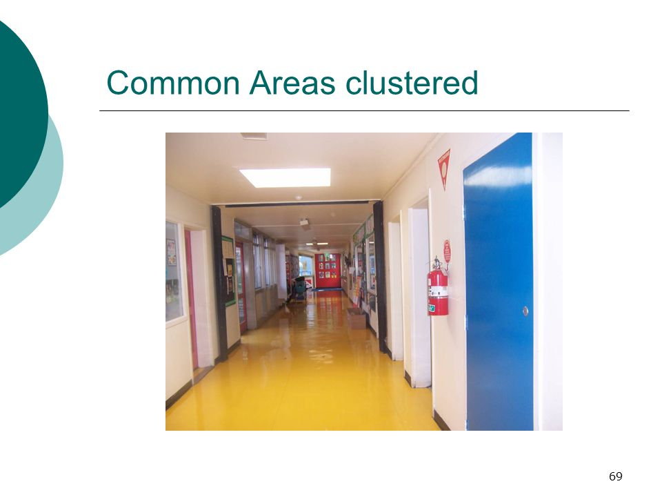 69 Common Areas clustered