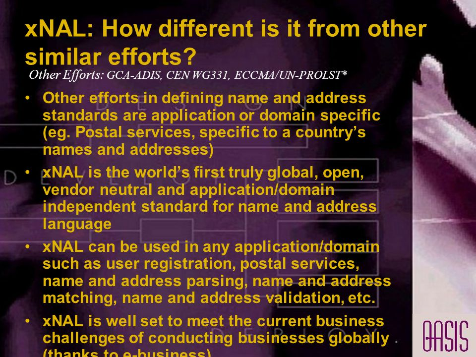 xNAL: How different is it from other similar efforts.