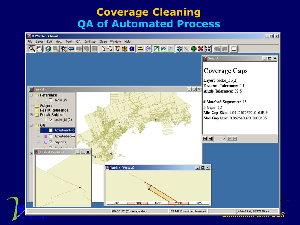 Conflation with JCS Coverage Cleaning QA of Automated Process