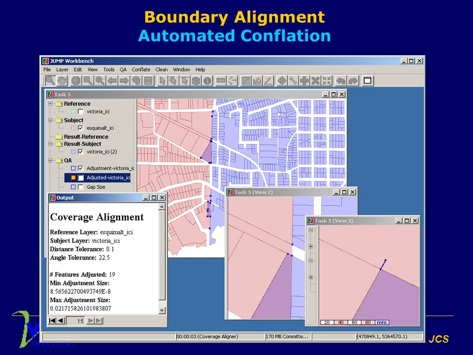 Conflation with JCS Boundary Alignment Automated Conflation
