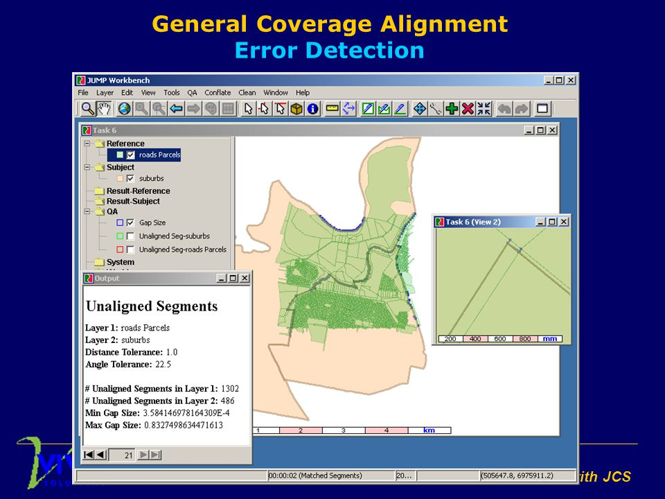 Conflation with JCS General Coverage Alignment Error Detection