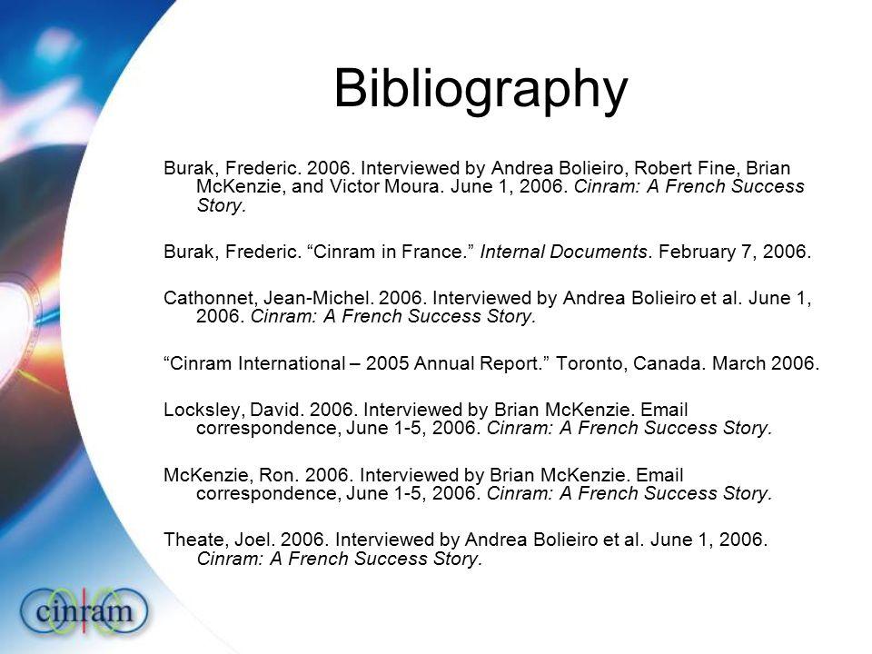 Bibliography Burak, Frederic.2006.