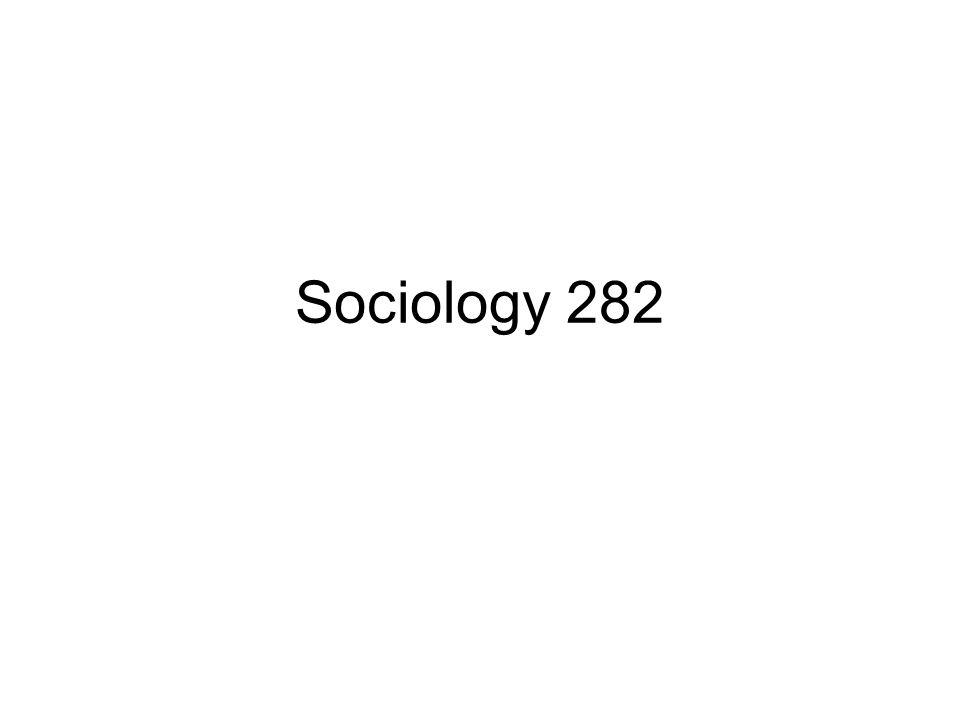 Sociology 282