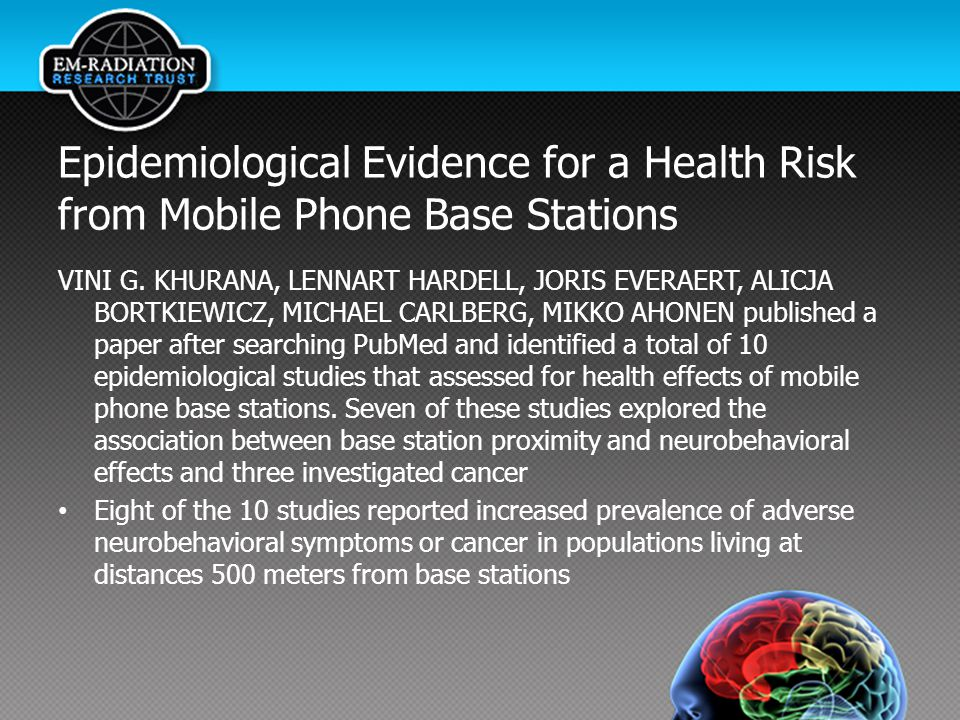 Epidemiological Evidence for a Health Risk from Mobile Phone Base Stations VINI G.