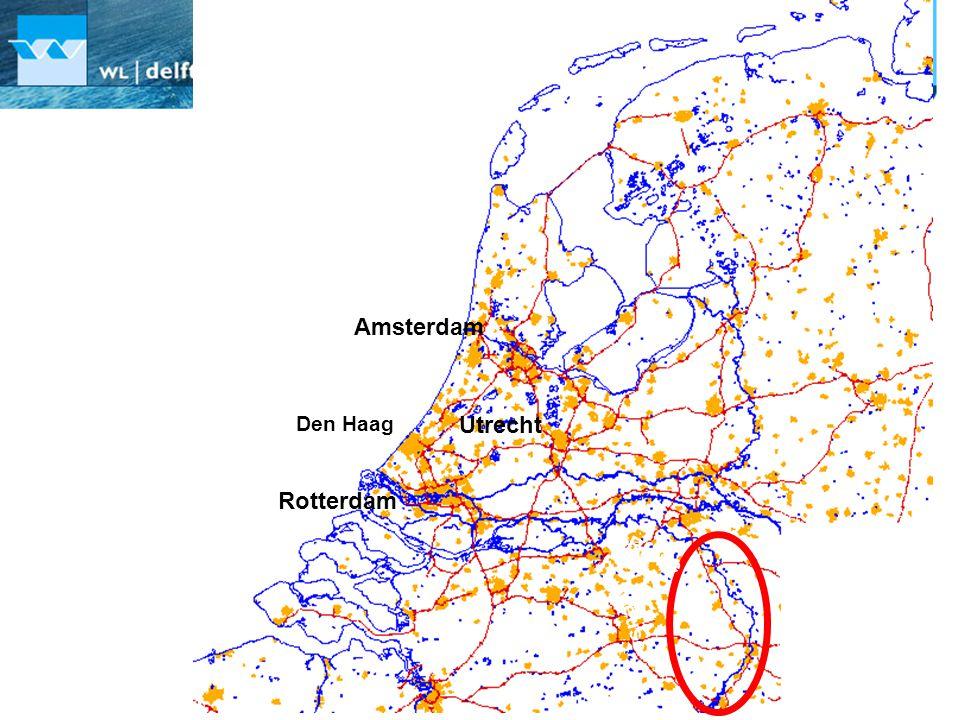 Utrecht Amsterdam Den Haag Rotterdam North Sea Rhine Meuse