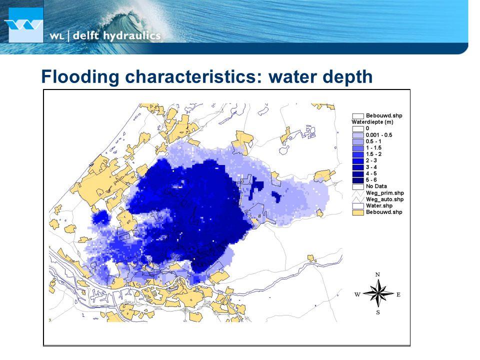 Flooding characteristics: water depth