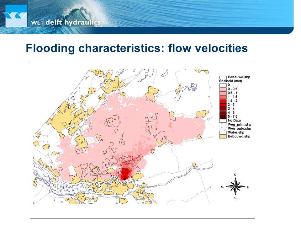 Flooding characteristics: flow velocities