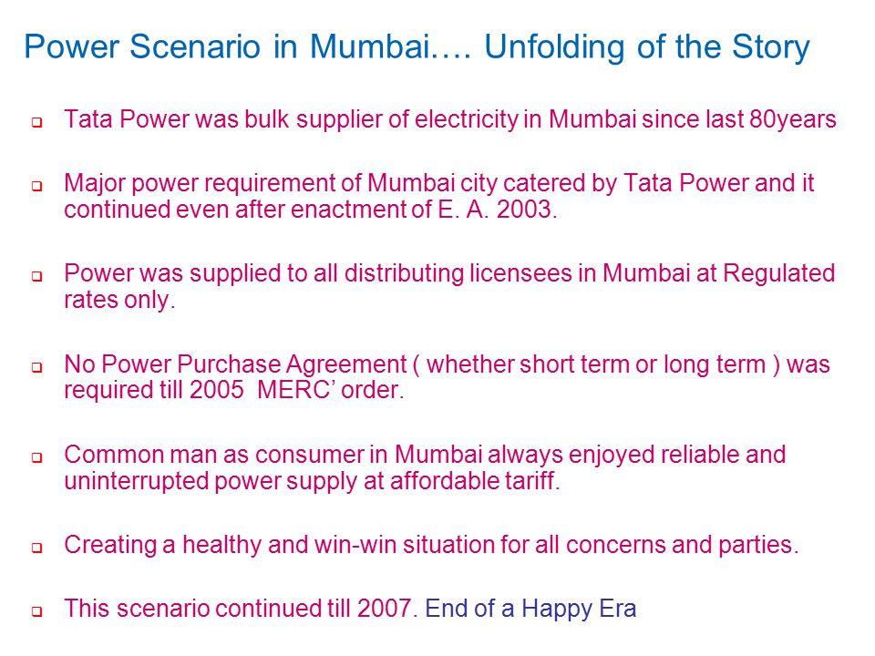 confidential 4 Power Scenario in Mumbai….