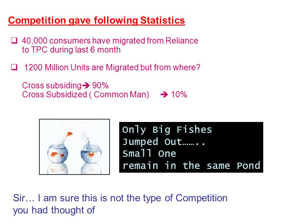 confidential 7 Competition gave following Statistics  40,000 consumers have migrated from Reliance to TPC during last 6 month  1200 Million Units are Migrated but from where.