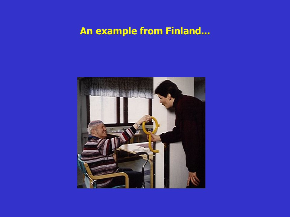 An example from Finland...