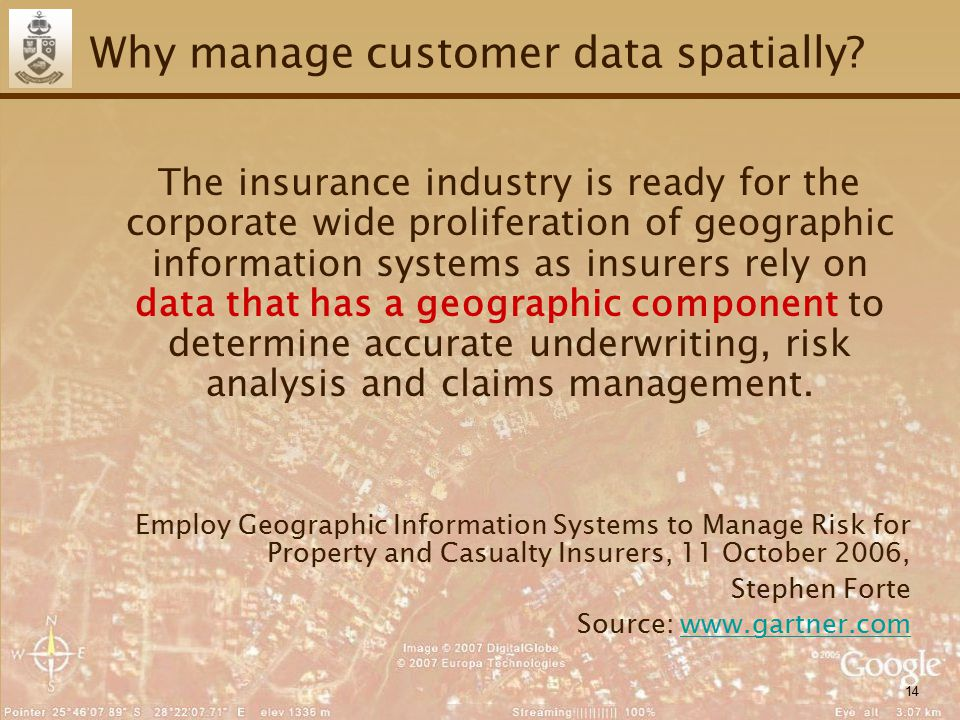 14 Why manage customer data spatially.